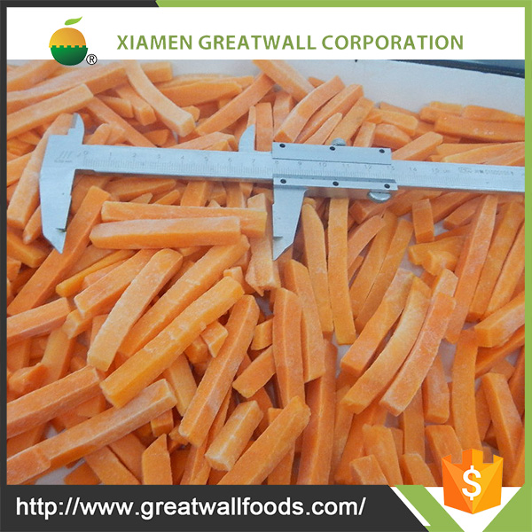 Frozen Vegetables strips of IQF frozen carrot