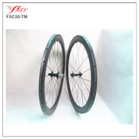 Cheap and light weight 700C Chinese carbon bicycle wheels 50mmx20.5mm tubular, 20H/24H ed hub 1190g/set
