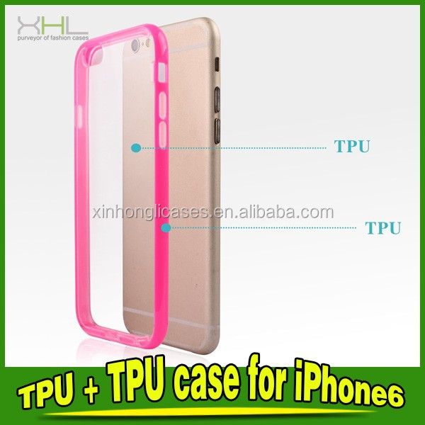 TPU Frame+TPU Back Cover Case For IPhone 6