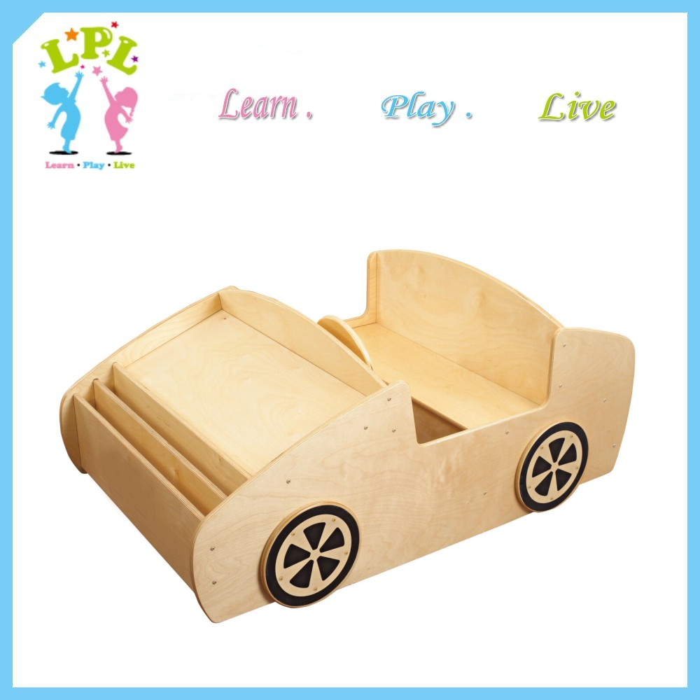 Unique design car type bookcase home cute book cabinet kid bookshelf