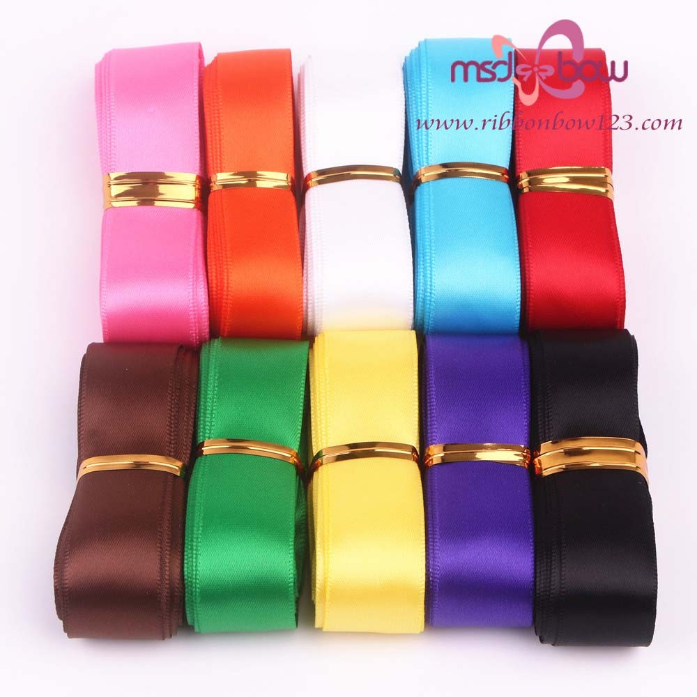 2016 wholesale gift packing polyester satin ribbon