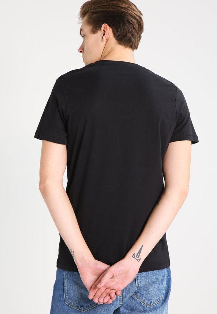 OEM/ODM Wholesale Custom Cheap Fashion Streetwear Black Men T-shirt with Printing Pattern