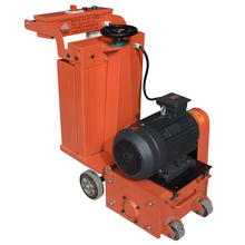 Concrete road scarifying machine with 7.5 KW electric motor