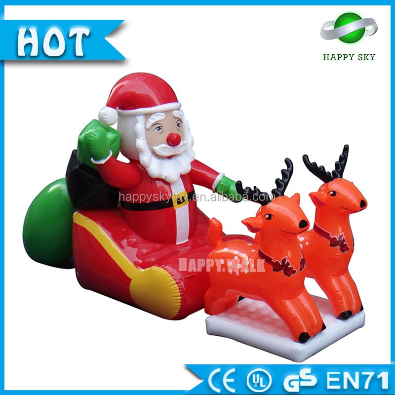 Giant Advertising Inflatable Christmas Decorations Cheap Christmas Inflatable santa claus