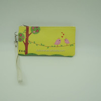 Hot Lady New Popular Birds Printed Clutch Bag/Cheap Tourist Souvenir PU leather Printed lady wallet