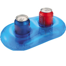 Water Drink Float Two Cup Hole Inflatable Cup Holder