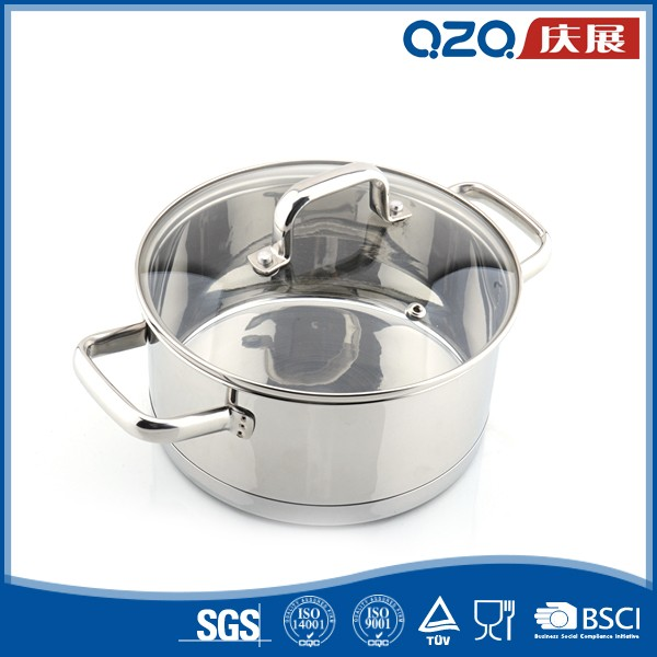 Best quality custom professional 201/304 cookware sets stainless steel casserole