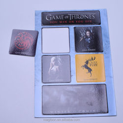 2015 most popular Game of Thrones theme paper fridge magnet sets