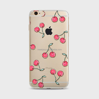 Silicon TPU custom pink cherry printing phone cases for Phone Soft Phone Case For iPhone 5 5S