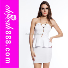 Off Shoulder Office Lady Short Beautiful Lady One-Piece Dress