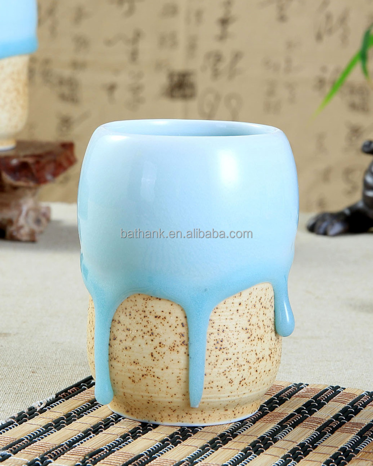 Dripping glaze hand made porcelain tea cup QFCB-52
