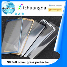 custom made tempered glass screen protector full cover size for samsung galaxy S8 S8 plus