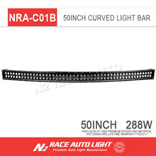 Off road accessories 288W 300W double row led lighting bar ip67 6d led light bar for jepp cars,auto parts