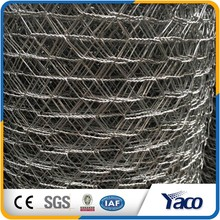 Anping YACHAO factory hexagonal wire mesh 10mm for Plastering in steel wire mesh