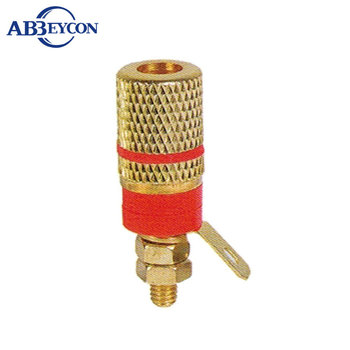 BP16 Golden push type speaker terminal binding post Gold-plated binding post