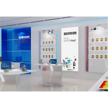 Factory direct customized mobile phone display counter retail store wall unit for display cabinet watch display kiosk