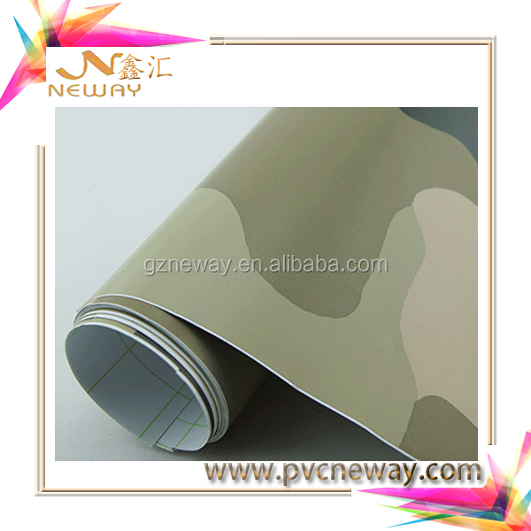 camouflage vinyl sticker/camouflage wraps with glitter