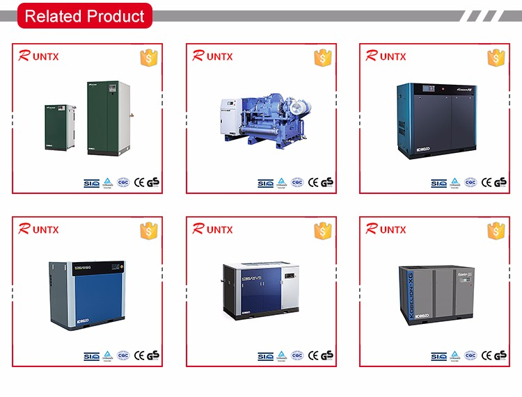 Low price Dry Oil free screw air compressor sales for Morocco