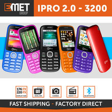 IPRO 2.0 3200 - 4mb+32mb - MicroSD up to 16GB - QCIF 176*220 - CAMERA - DUAL SIM - BLUETOOTH - QUAD BAND GSM RED: 850/900/1.800