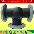 Flanged EPDM rubber tee