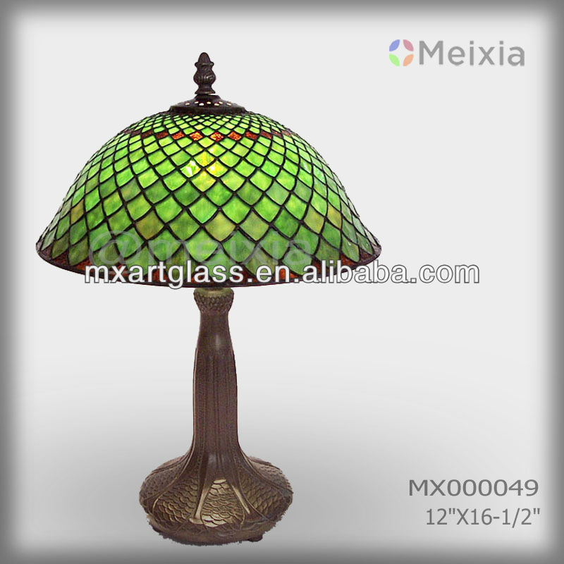 MX000049 tiffany style stained glass lamp shade wedding gift