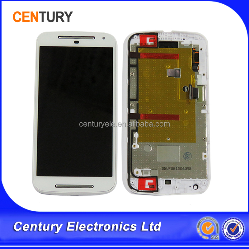 High Quality For Motorola Moto G2 XT1063 XT1064 XT1068 LCD Screen Display Glass Touch Screen with Digitizer Assembly with frame