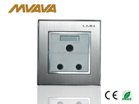 New design 15A switch socket with metal frame and CE certificate