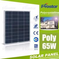 Factory Wholesale Solar Panel Best Price 65W Photovoltaic Solar Panel