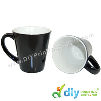 Magic Mug (Cone) (Black) (12oz)