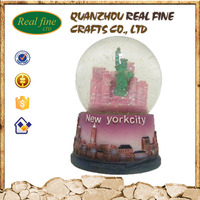 Wholesale new york city view pink romantic snow globe