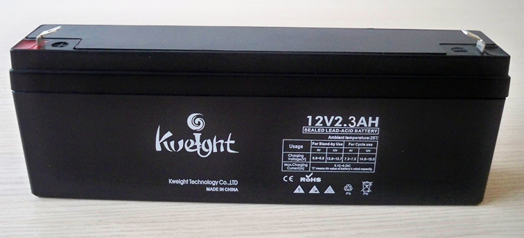 kweight Stand quality 12V 2.2AH 2.3AH 2.4AH Lead Acid battery AGM Gel battery