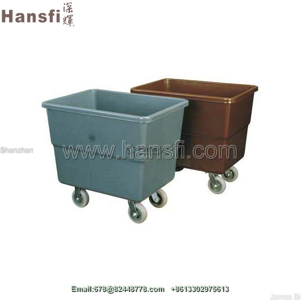 C-40C glassfiber hotel housekeeping wet laundry linen trolley cart