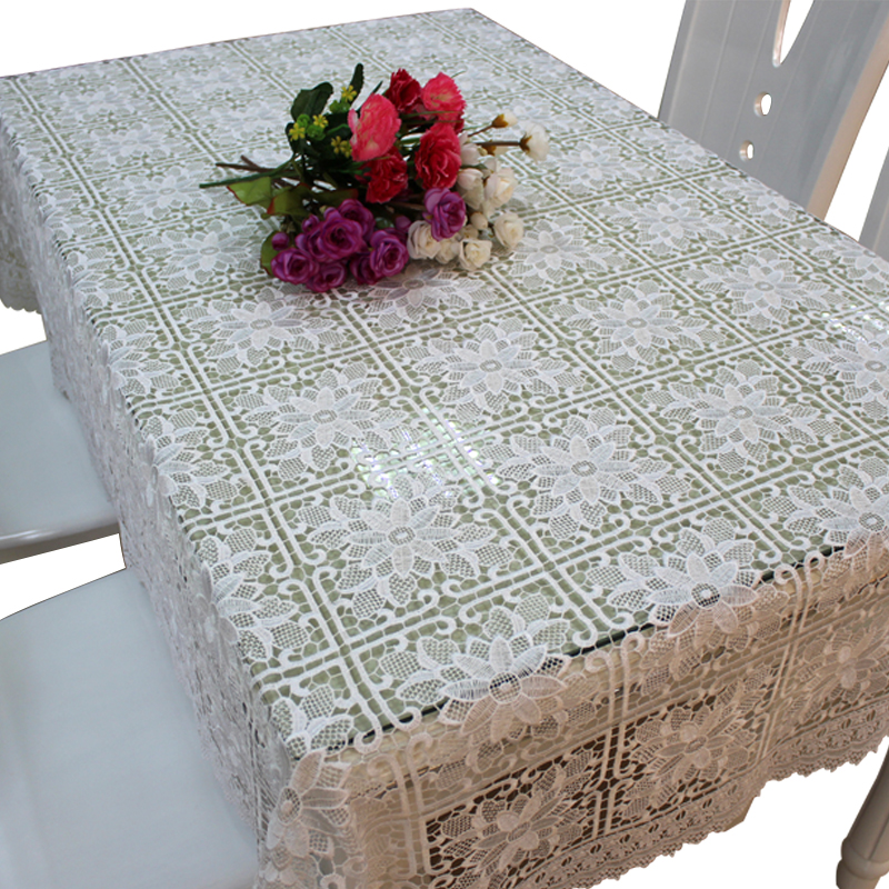 Embroidery design lace tablecloth