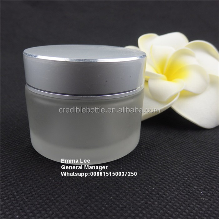 empty medical face cream glass jar wholesale
