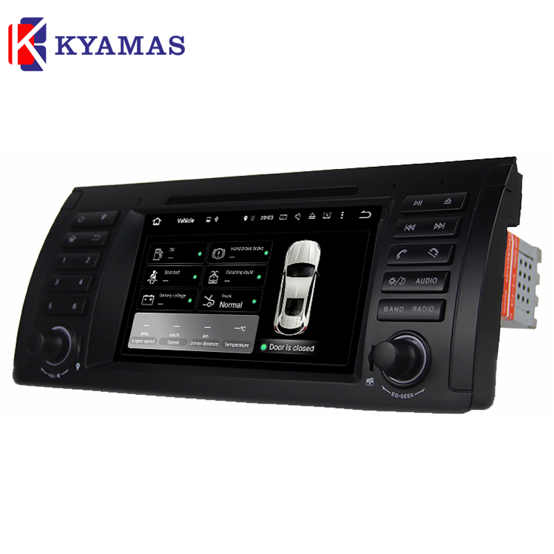 1Din Car Multimedia DVD Player for B M W E39 X5 M5 E38 E53 with GPS Navigation CANBUS Bluetooth 2GB RAM Android 6.0.1 Auto Radio