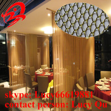 High quality silver color metallic drapery/metallic curtain (15 years factory )