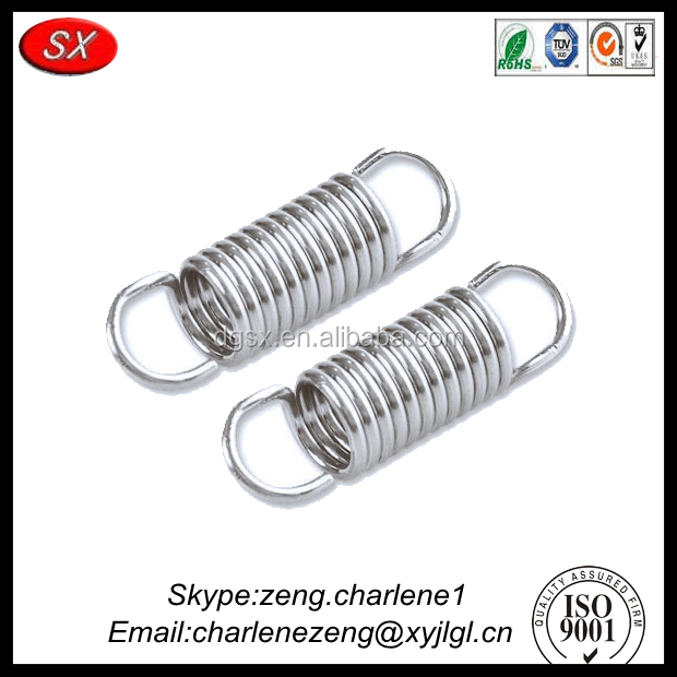 small tension spring with hooks , stainless steel tension spring with high quality