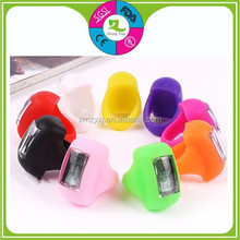 Fashion Hotsale Men& Women Digital Silicone Rubber Finger Ring Watch