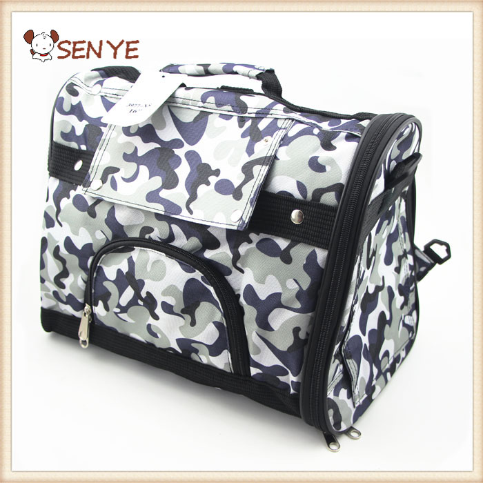 Small Dog Travel Luxury PU Leather Carrier Outdoor Foldable Portable Carriers School Cat Bag
