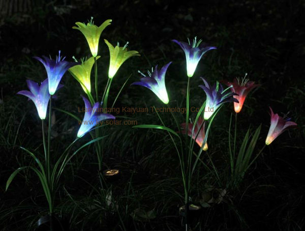 Solar simulation flowers light Lily flower