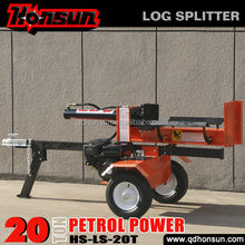 Super quality branded 6.5hp Honda Ducar engine widely used professional 20ton gas power log splitter