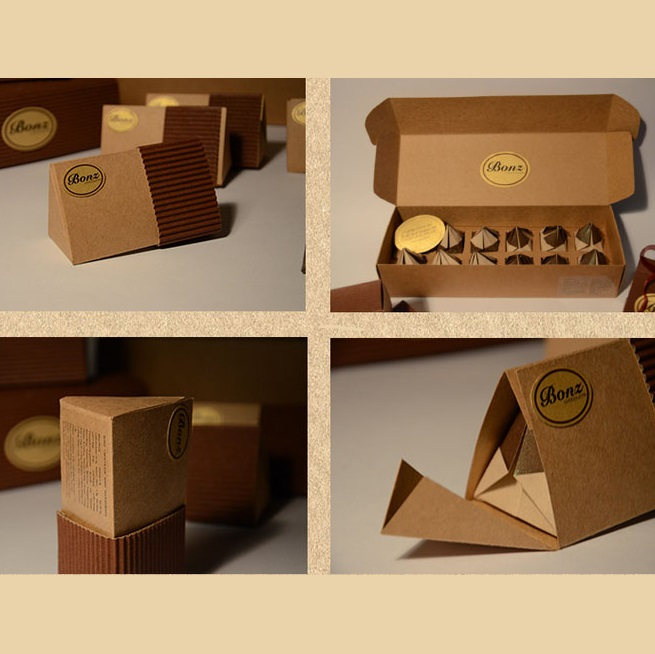 Custom natural brown cookies box packaging
