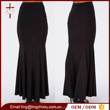 Slinky fishtail hem pleated details pictures of long skirts and tops designs