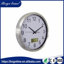Factory Directly Selling quartz large calendar wall clock with day & date