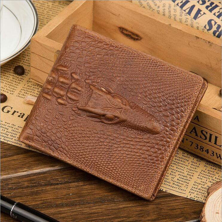New Men's Genuine Leather <strong>Wallets</strong> Crocodile Grain Bifold Rfid Blocking <strong>Wallet</strong> Restoring ancient fashionable factory wholesale