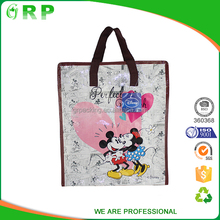 Promotional glossy laminated tote recycled custom made shopping bags