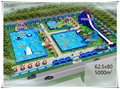 5000 m2 Outdoor Giant Inflatable Water Theme Park, Portable Water Park Games