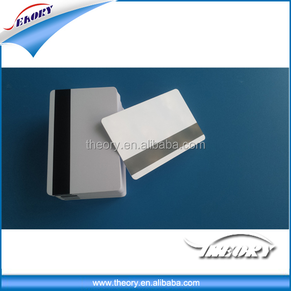 blank plastic credit cards with magnetic stripe