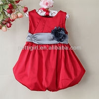 2016 New Girl Dress Baby Dress Fashion Ball 121008-88 Dress With Belt Baby Clothing