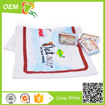 cotton printed velour magic compressed towel promotional gift 2017